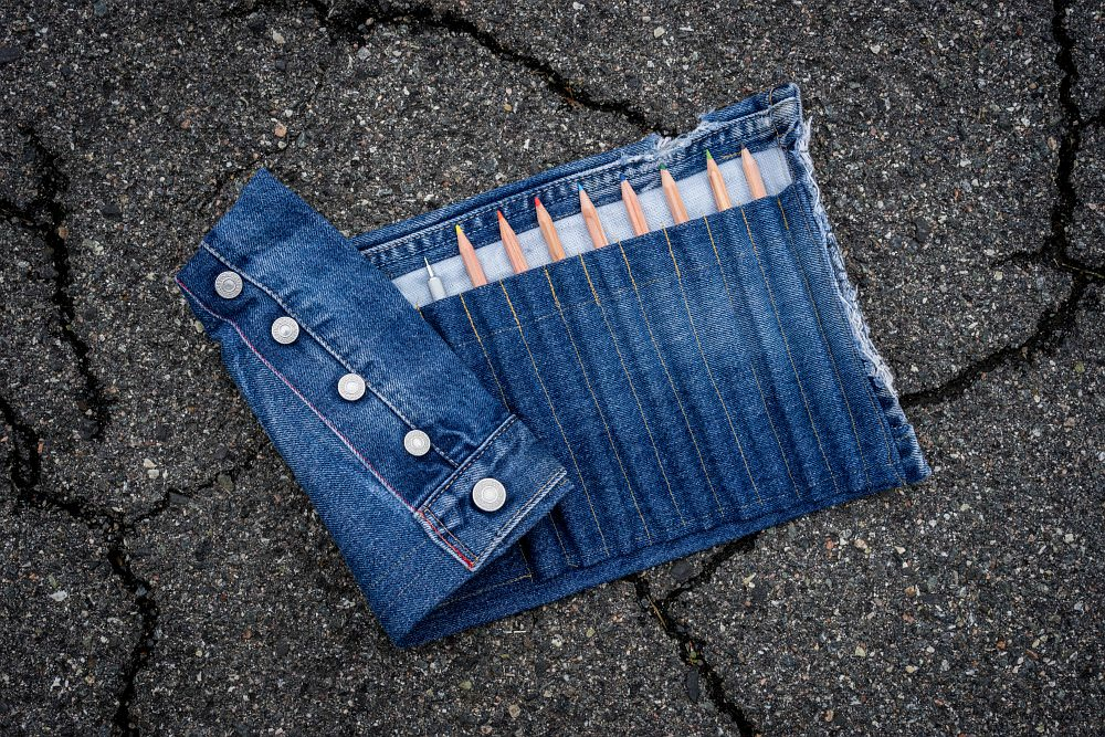 pencil case jeans design